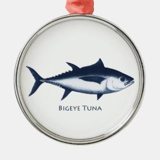 Bigeye Tuna Logo Metal Ornament