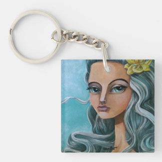 Bigeyes Single-Sided Square Acrylic Keychain