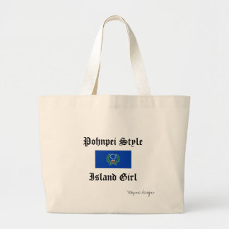 bigflag-1[1], Mayme Designs, Pohnpei Style, Isl... Large Tote Bag