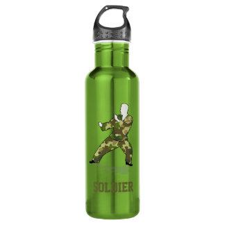 Bigfooot Hunter In Black Green Camo 24oz Water Bottle