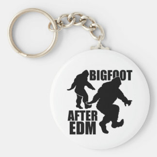 Bigfoot after EDM Basic Round Button Keychain