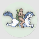 Bigfoot, Alien, Unicorn Classic Round Sticker