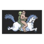 Bigfoot, Alien, Unicorn Rectangular Sticker