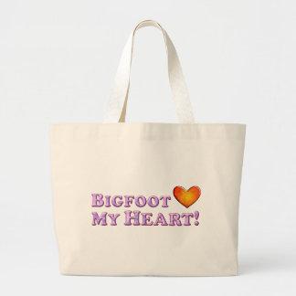 Bigfoot ama mi corazón - básico bolsa de mano