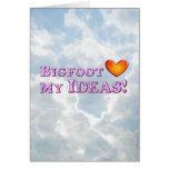 Bigfoot ama mis ideas - básicas tarjeta