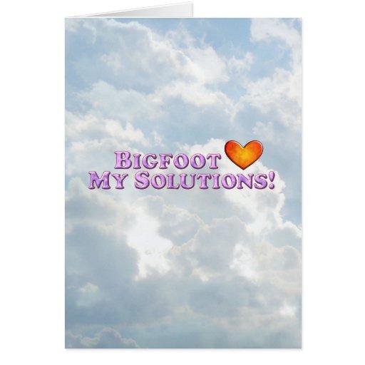 Bigfoot ama mis soluciones - básicas felicitacion