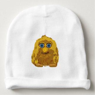 Bigfoot amarillo lindo con los ojos azules grandes gorrito para bebe