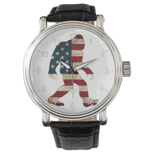 Bigfoot american flag watch