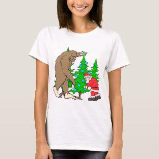 Bigfoot and Santa Christmas T-Shirt