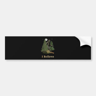 Bigfoot art bumper sticker