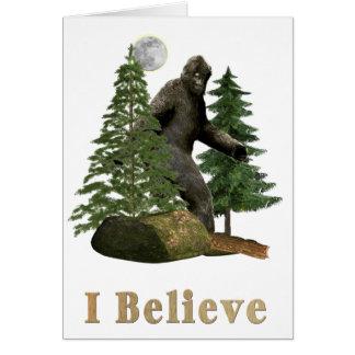Bigfoot art card