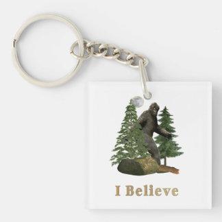 Bigfoot art keychain