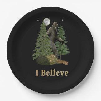 Bigfoot art paper plate