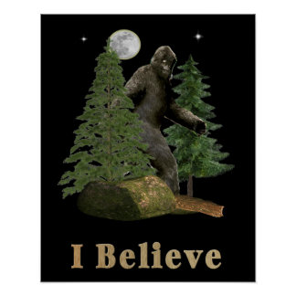 Bigfoot art poster