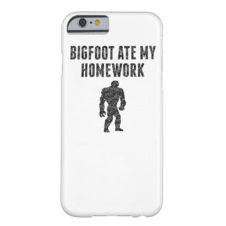 Bigfoot Ate My Homework (Distressed) Barely There iPhone 6 Case
