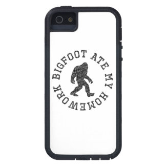 Bigfoot Ate My Homework (Distressed) iPhone 5 Cover