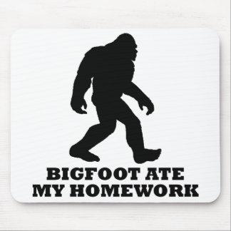 Bigfoot Ate My Homework Mousepads