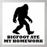 Bigfoot Ate My Homework Print