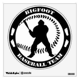 Bigfoot Baseball Team Large Sticker