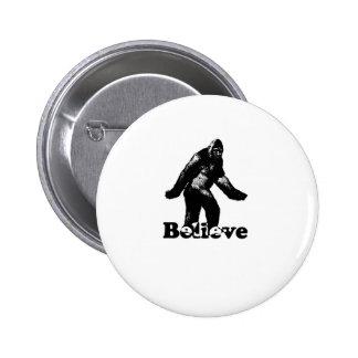 Bigfoot Believe 2 Inch Round Button