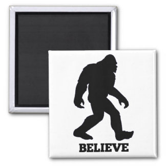 Bigfoot Believe 2 Inch Square Magnet