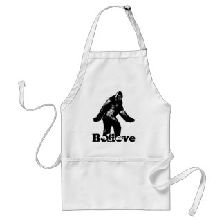 Bigfoot Believe Adult Apron