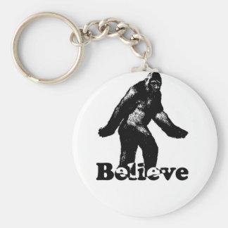 Bigfoot Believe Basic Round Button Keychain
