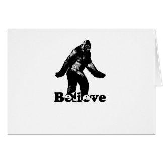 Bigfoot Believe Card