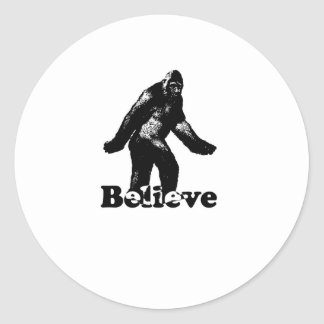 Bigfoot Believe Classic Round Sticker