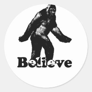 Bigfoot Believe Classic Round Sticker