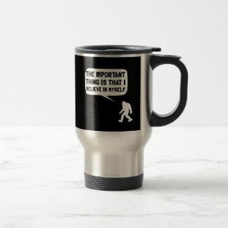 Bigfoot Believe In Myself 15 Oz Stainless Steel Travel Mug