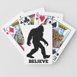 Bigfoot BELIEVE Sasquatch Bicycle Playing Cards
