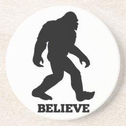 Bigfoot BELIEVE Sasquatch Coaster