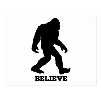 Bigfoot BELIEVE Sasquatch Postcard