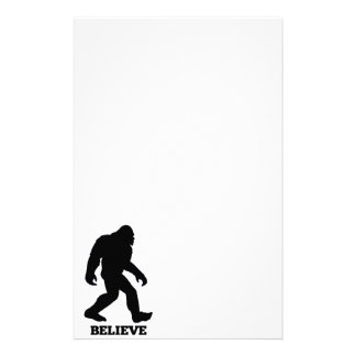 Bigfoot BELIEVE Sasquatch Stationery