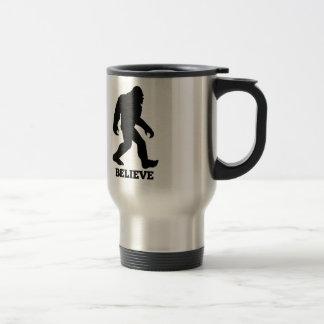 Bigfoot BELIEVE Sasquatch Travel Mug