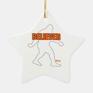 Bigfoot Believer Ceramic Ornament