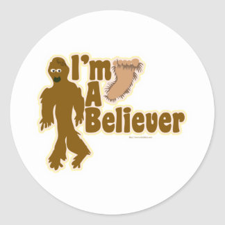 Bigfoot Believer Classic Round Sticker
