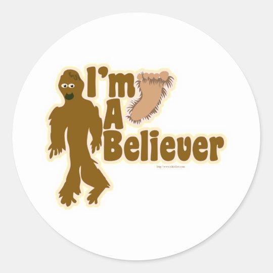 Bigfoot Believer Classic Round Sticker