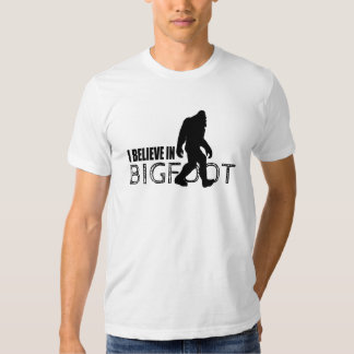 Bigfoot Believer Cool Black Squatch Shirt