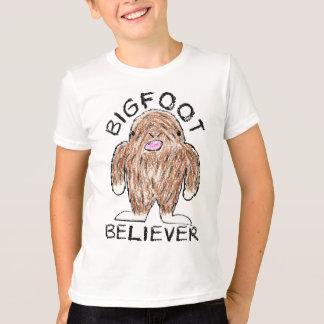 BIGFOOT BELIEVER - Fun Sasquatch Crayon Sketch T-Shirt