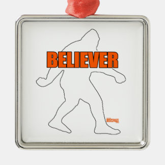 Bigfoot Believer Metal Ornament