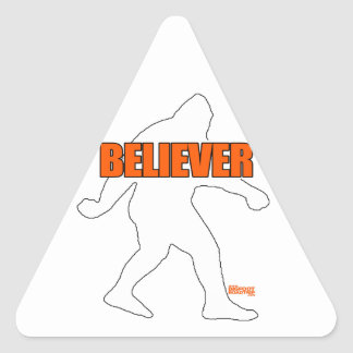 Bigfoot Believer Triangle Sticker