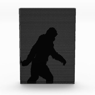 Bigfoot Black Silhouette Carbon Fiber Style Acrylic Award