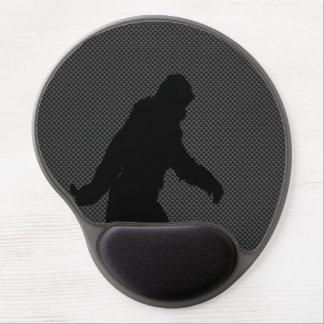 Bigfoot Black Silhouette Carbon Fiber Style Gel Mouse Pad