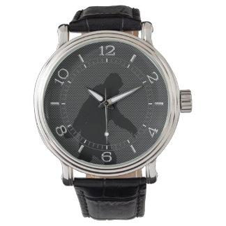 Bigfoot Black Silhouette Carbon Style Dial Wristwatches