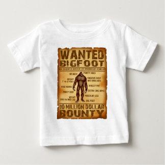 Bigfoot Bounty 10 Million Dollar Wanted Poster Baby T-Shirt