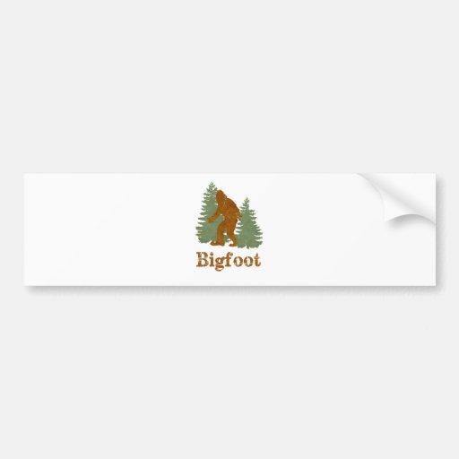 Bigfoot Car Bumper Sticker