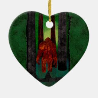 Bigfoot Ceramic Ornament