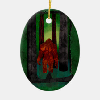 Bigfoot Ceramic Ornament